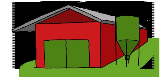 Landwirtschaftliches Bauen Zeichnung
